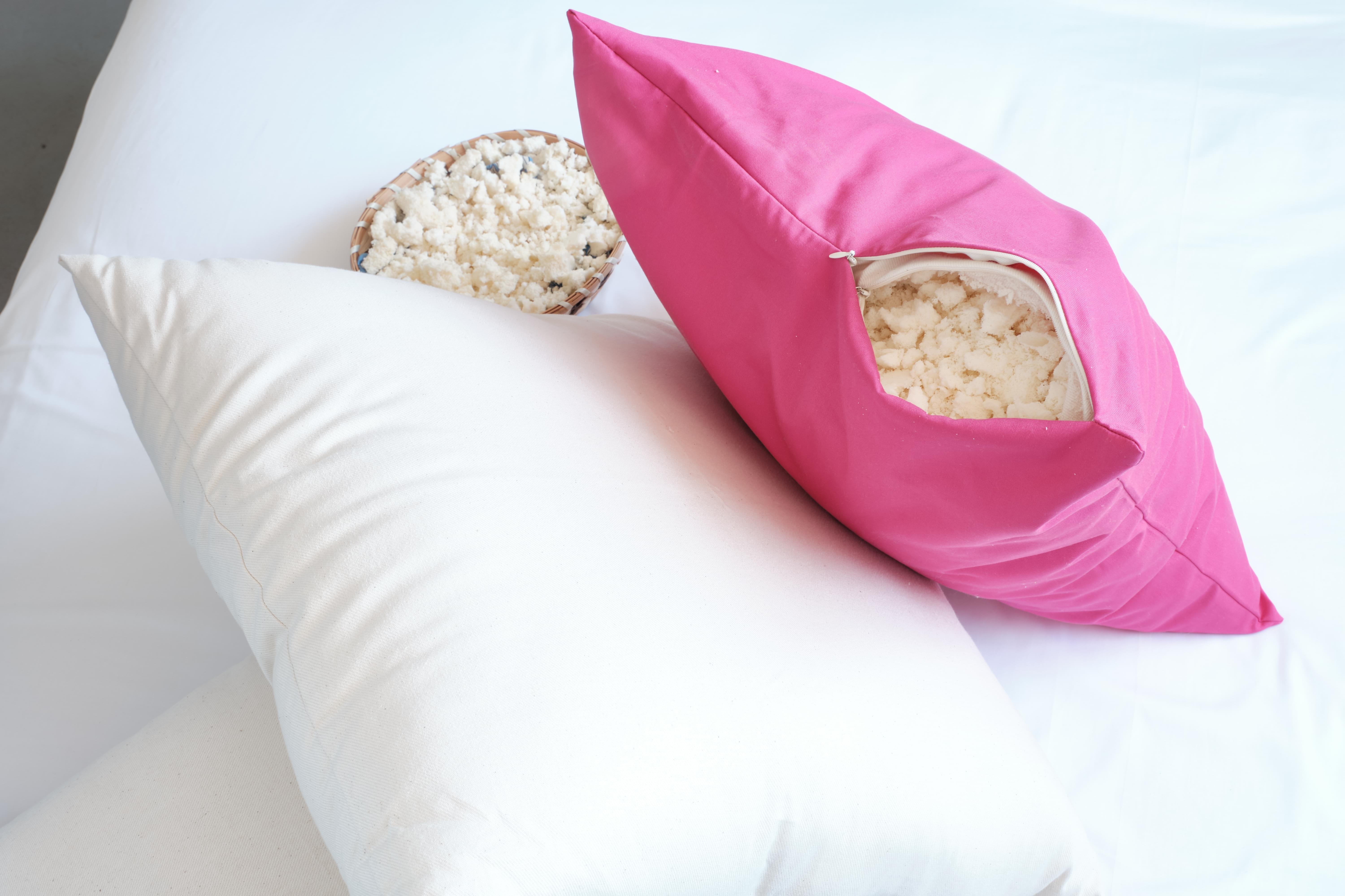 natural shredded latex decorative pillow inserts 17 20 24 inches buy at whitelotushome com