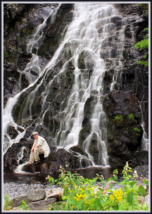 The Photographer hanging out at the Alpine Cascades in Berlin, New Hampshire