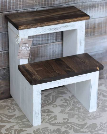 DIY Step Stool, Build The EASIEST Step Stool, Step by Step Instructions, Cut List and Shop List