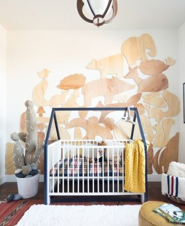 Vintage Revivals Nursery With Faux Cactus and Bed House