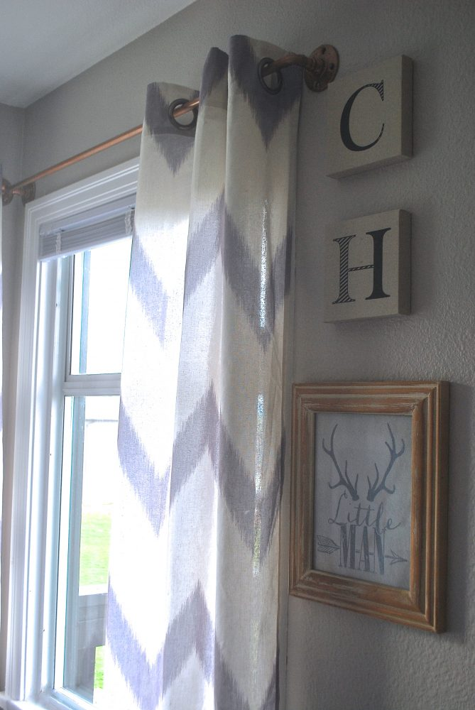 DIY Curtain Rods, DIY West Elm, Copper Curtain Rod