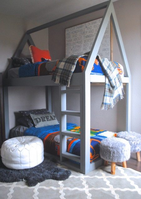 Built a House Bunk Bed, House Bed, Bed Tutorial, Bed Plans