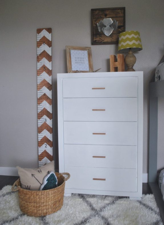 Modern DIY Dresser, DIY Dresser, Painted Dresser, Fat Paint, Modern Boys Bedroom