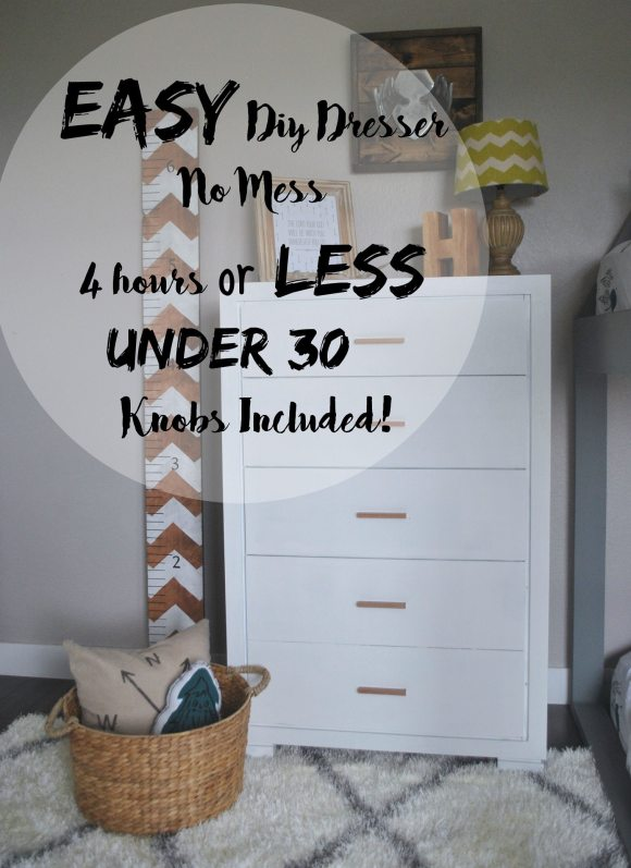 Easy DIY Dresser, Painted Dresser, Quick DIY Dresser, Modern Dresser, Copper Dresser, Boys Bedroom