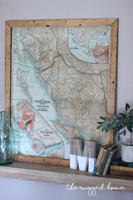 How To Decorate With maps, Vintage and modern Decorating made easy