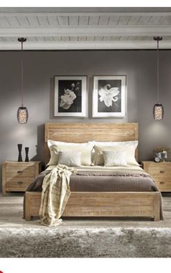 Overstock Bed, Farmhouse Bed, Our brand new Bed, Our Rustic bed
