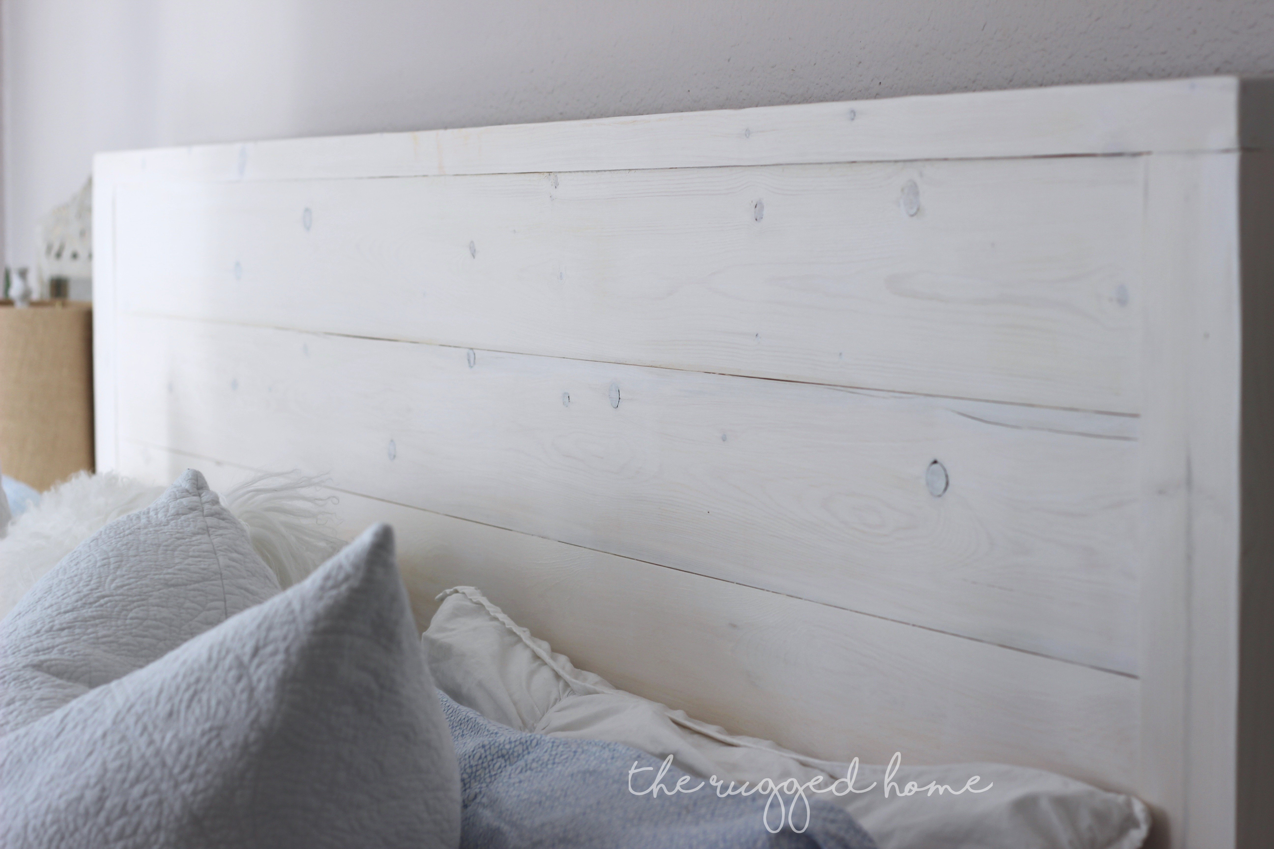 Our Rustic DIY Bed build In Under A Day, It's a Style From Overstock That We replicated