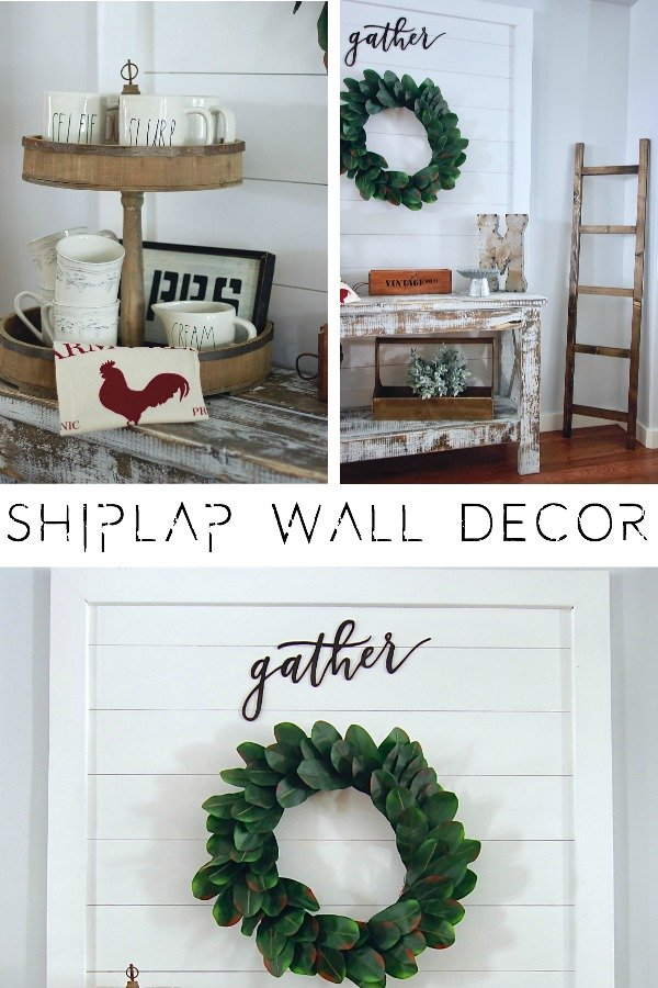DIY Shiplap Wall Decor Sign Wall Hanging. So super easy to build, takes under an hour. Great for renters www.whitepicketfarmhouse.com