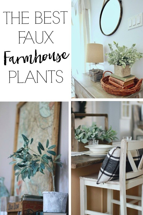 The best faux farmhouse plants www.whitepicketfarmhouse.com