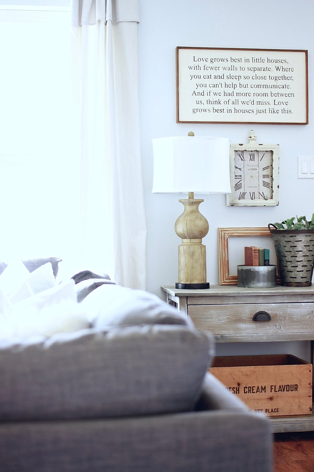 Collaboration between the rugged home and decor by Nature. Barn Wood Verse art www.whitepicketfarmhouse.com