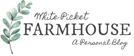 White Picket Farmhouse Logo A Personal Blog. Home, Style and Mamahood