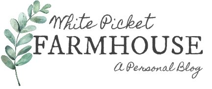 White PIcket Farmhouse Logo A Personal Blog. Home Decor, DIY, Style, Mamahood