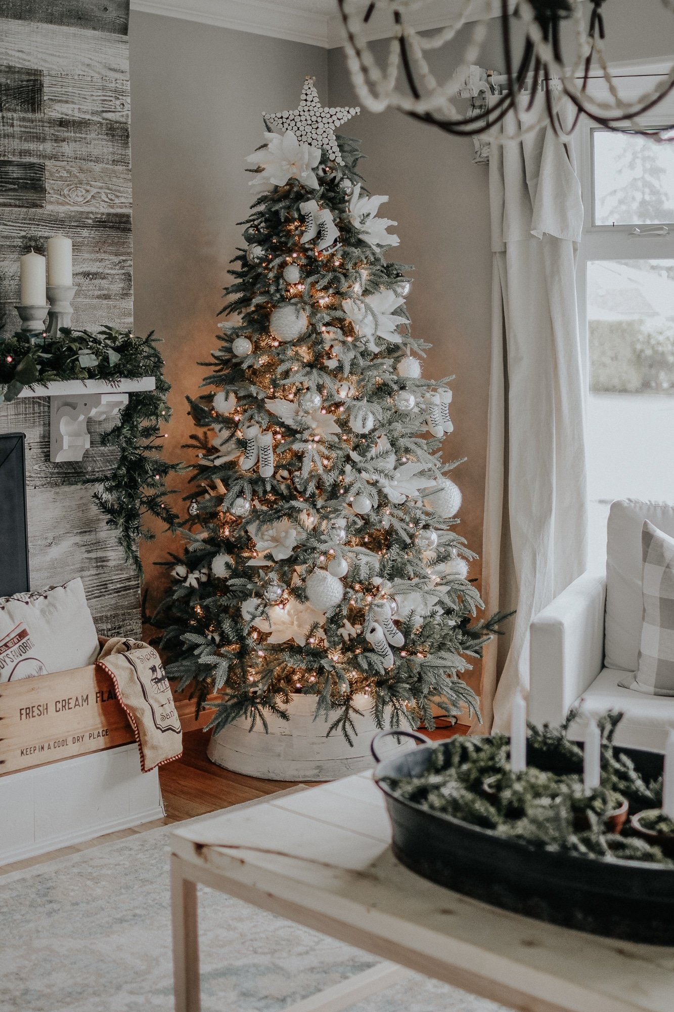 Holiday Modern Farmhouse Walk Through . How I styled our modern farmhouse for Christmas, it doesn't have to be expensive.