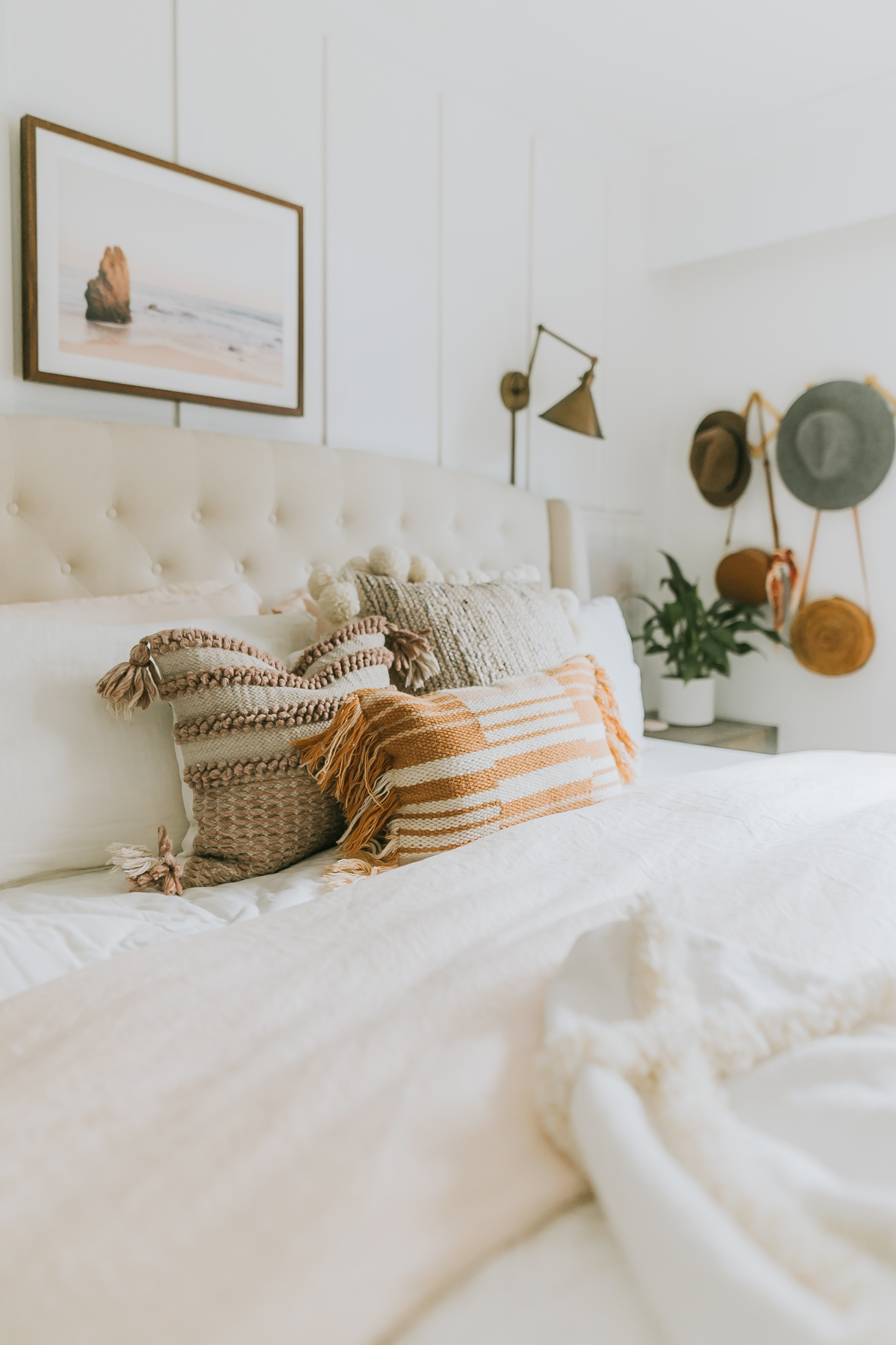 Feeling uninspired in your bedroom? A bit of colour and new linens can change the whole dynamic of the room. How I updated our room for 180!