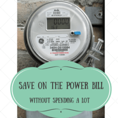 SAVE ON THE POWER BILL