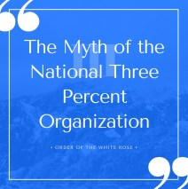 The Myth of the National Three Percent Organization