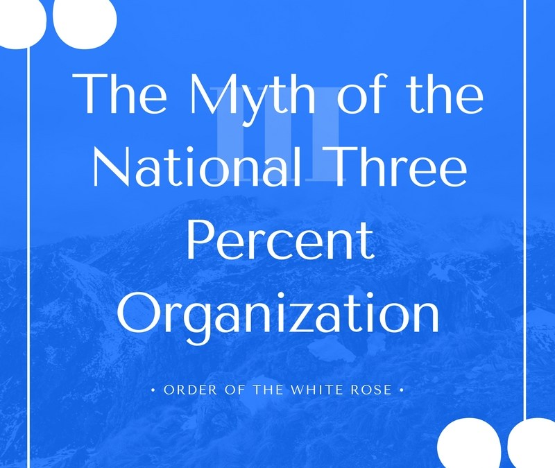 The Myth of the National Three Percent Organization