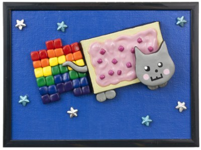 Nyan Cat by Heather Miller of WhiteRosesArt.com