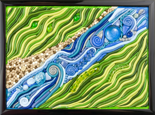 River & Fields by Heather Miller | WhiteRosesArt.com