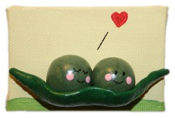 Two Peas in a Pod by Heather Miller of WhiteRosesArt.com