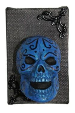 Blue Muertos by Heather Miller of WhiteRosesArt.com