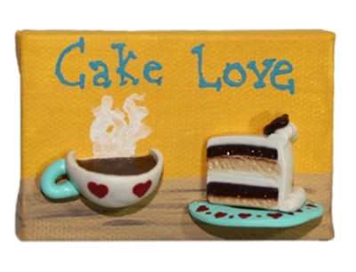 Cake Love by Heather Miller of WhiteRosesArt.com