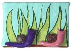 Garden Snails by Heather Miller | WhiteRosesArt.com