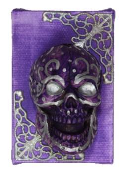 Purple Muertos by Heather Miller WhiteRosesArt.com