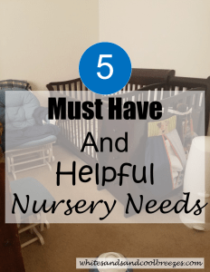 5 Must Have and Helpful Nursery Needs. A crib, diaper pail, music, humidifier and rocker/glider. Also a few needs that aren't needed.