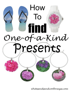 How to find one-of-a-kind presents! Know someone who's difficult to buy for? Check out Zazze or Shutterfly for great one-of-a-kind presents! #presents #giftsforhim #giftsforher
