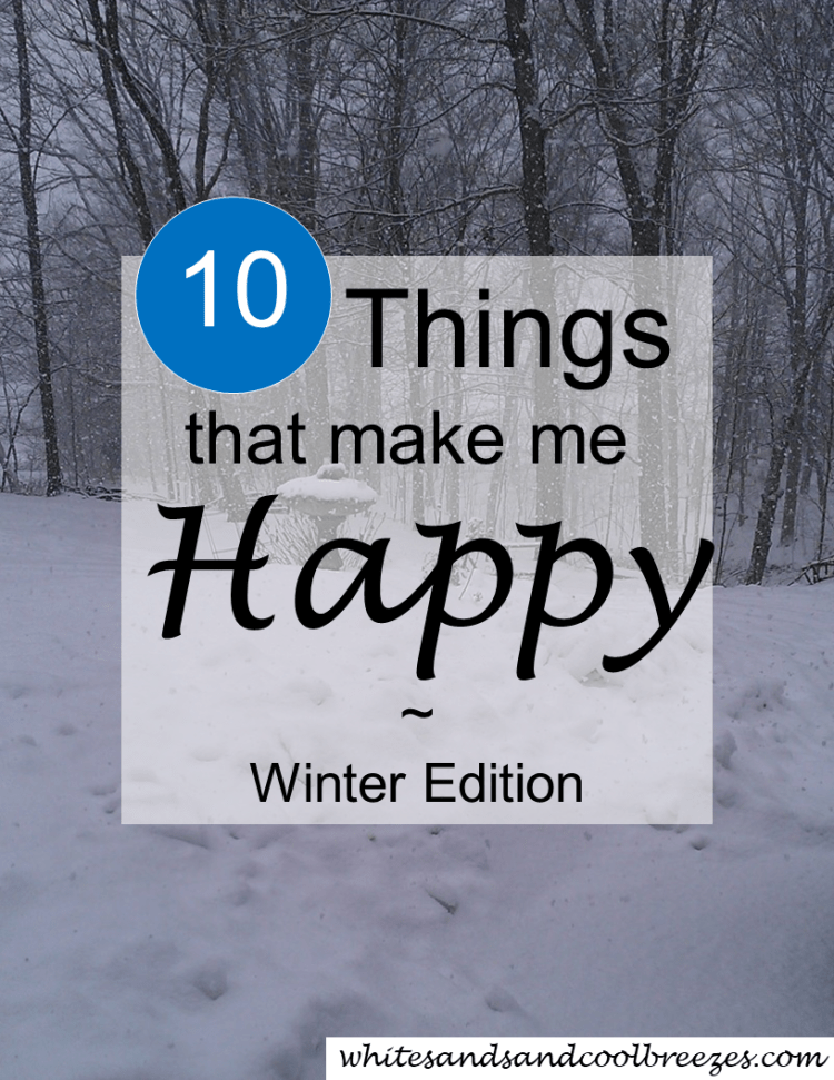 10 Winter things that make me Happy. What makes you happy in winter? #winterfun #Christmas #happydays