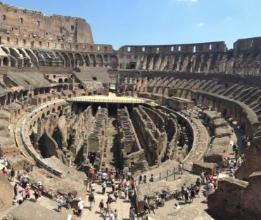 Inside the Coloseum. Everything used to be covered in marble. Wow.