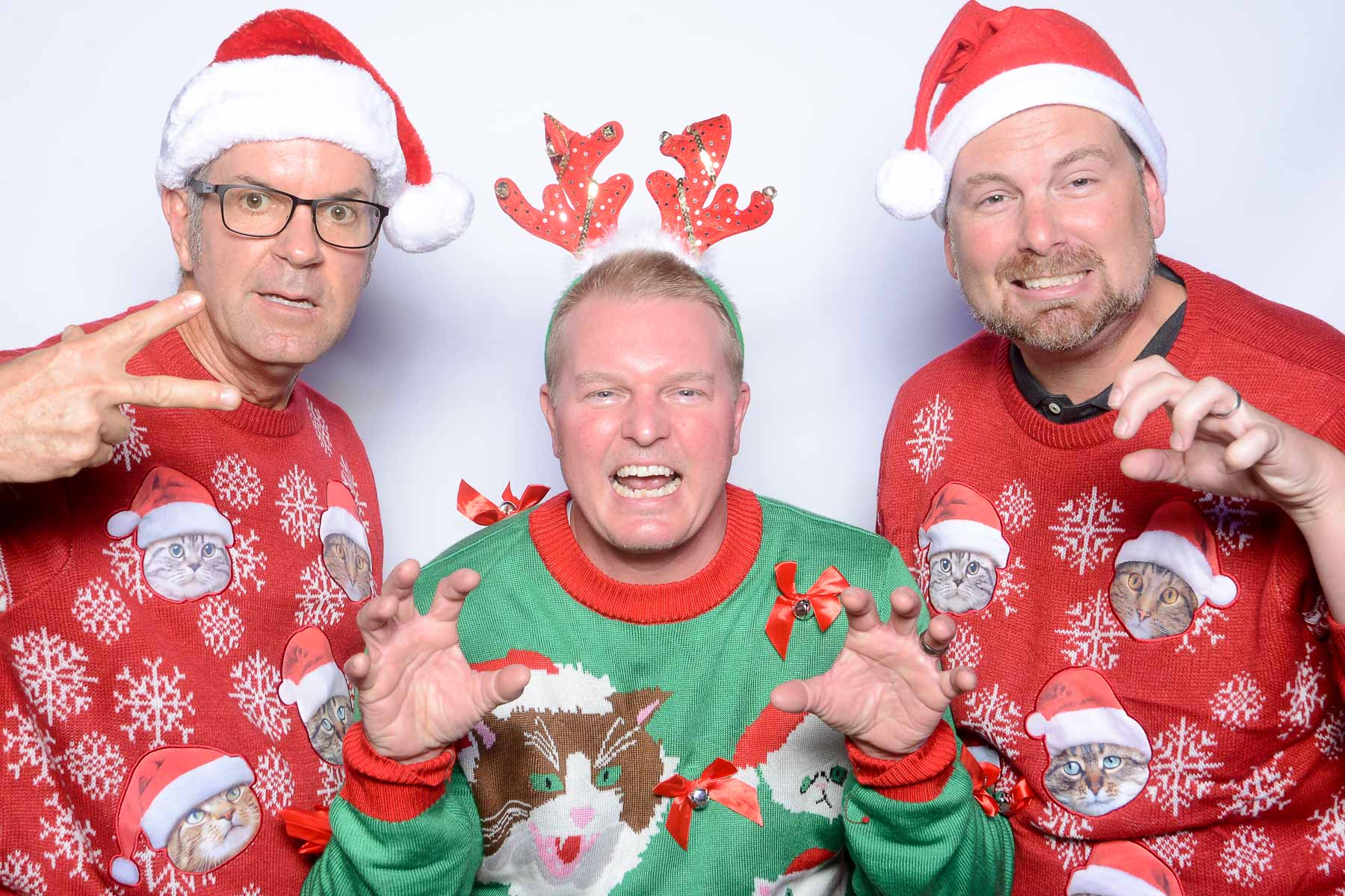 White Buffalo photo booth ugly sweater competition