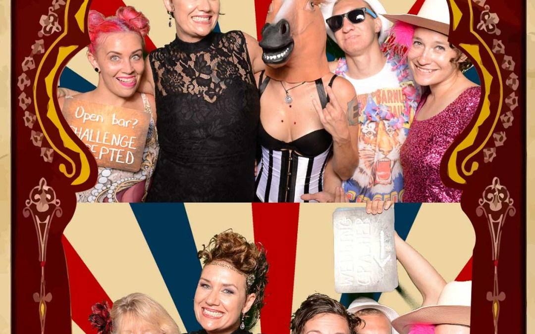 Sarasota Circus Wedding Photo Booth – Cock and Bull