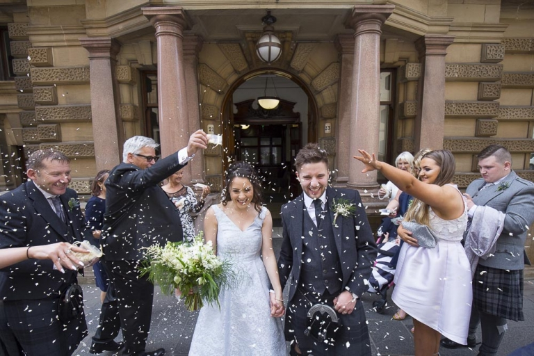 Glasgow City Chambers Wedding Photographer Zoe Mark