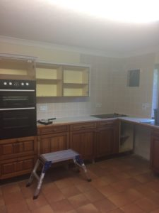 kitchen cabinet makeover in progress 2JPG e1500843487406 225x300 - A Kitchen Makeover in time for Christmas