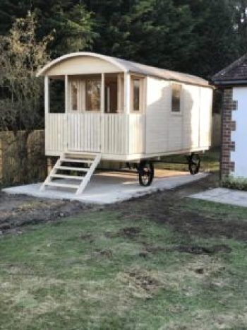 Shepherds Hut finished and unpainted e1499968827166 225x300 - The Shepherds Hut - my very special place to blog