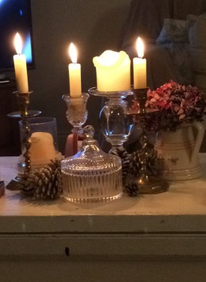 Autumn Candlelight 2 219x300 - Candles - Vintage and Thrifty Styling for the Home