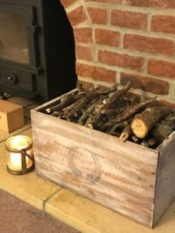 DIY box with kindling 2 e1503416681681 225x300 - A DIY Project - Transforming a Vintage Box into a thing of Beauty