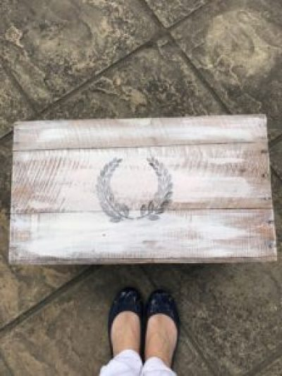 DIY box with transferred wreath motif e1503413771215 225x300 - A DIY Project - Transforming a Vintage Box into a thing of Beauty