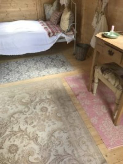 floor rugs in Shepherds Hut 1 e1504357412324 225x300 - The Shepherds Hut - decorating the inside of beautiful Belle