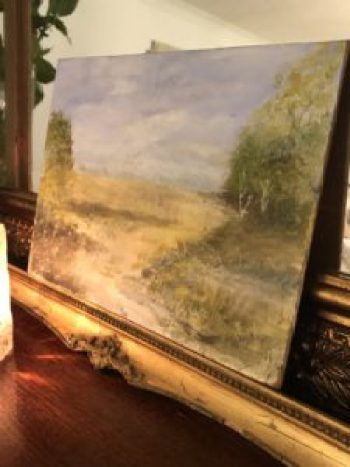 watercolour on board 4 e1511189891312 225x300 - Paintings - Vintage and Thrifty Styling for the Home