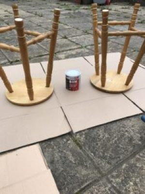 bar stool sawing 2 e1515401362986 225x300 - Bar Stools - up-cycling and alternative uses around the home