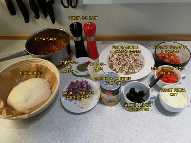nem vegetar pizza med artiskok