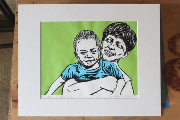 New Print: Michelangelo and Francine
