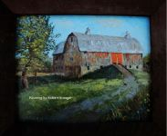 Painting of Hurley barn titled