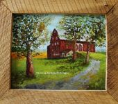 Painting of Shivley barn titled