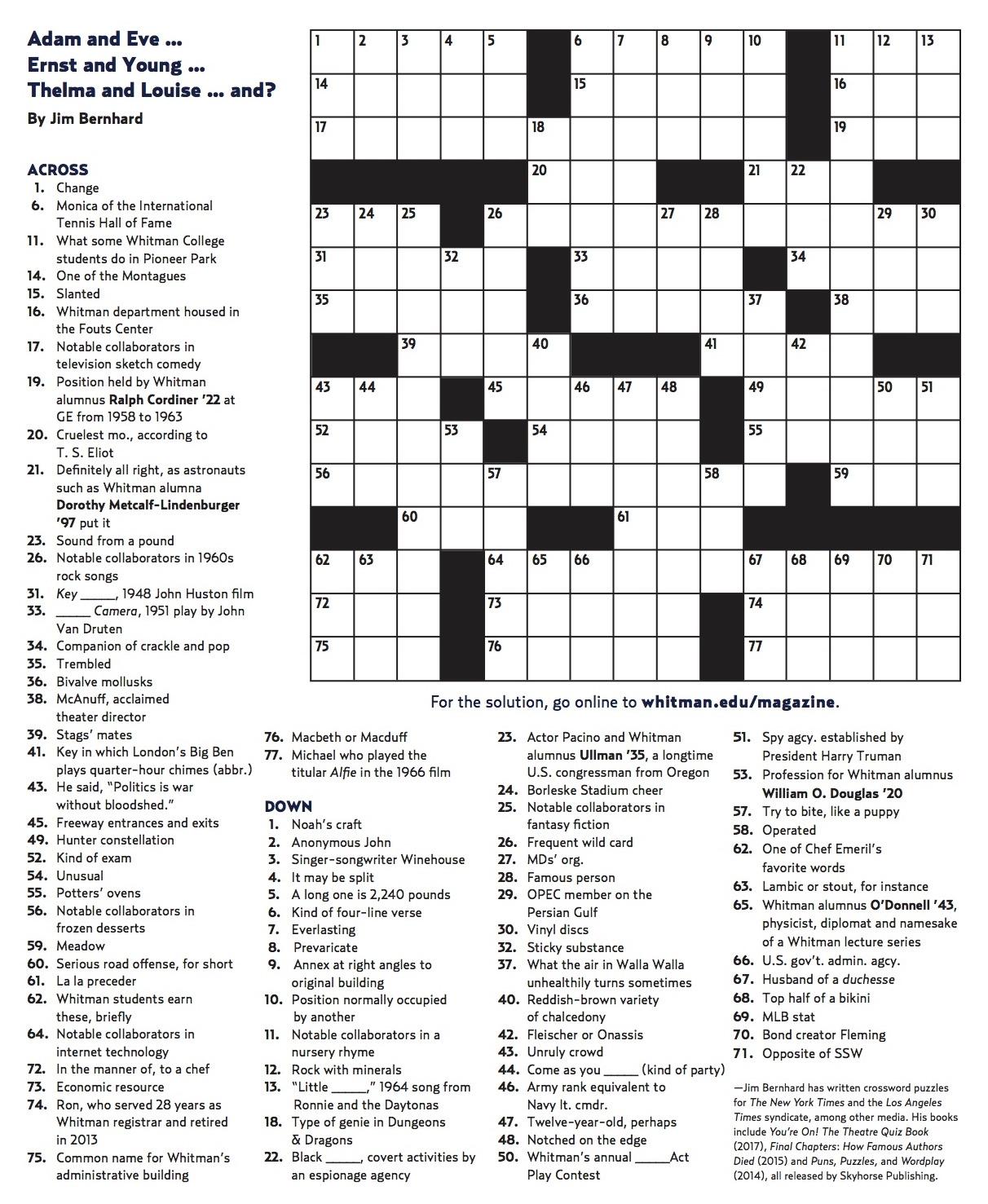 F Free Printable Winter Crossword Puzzles