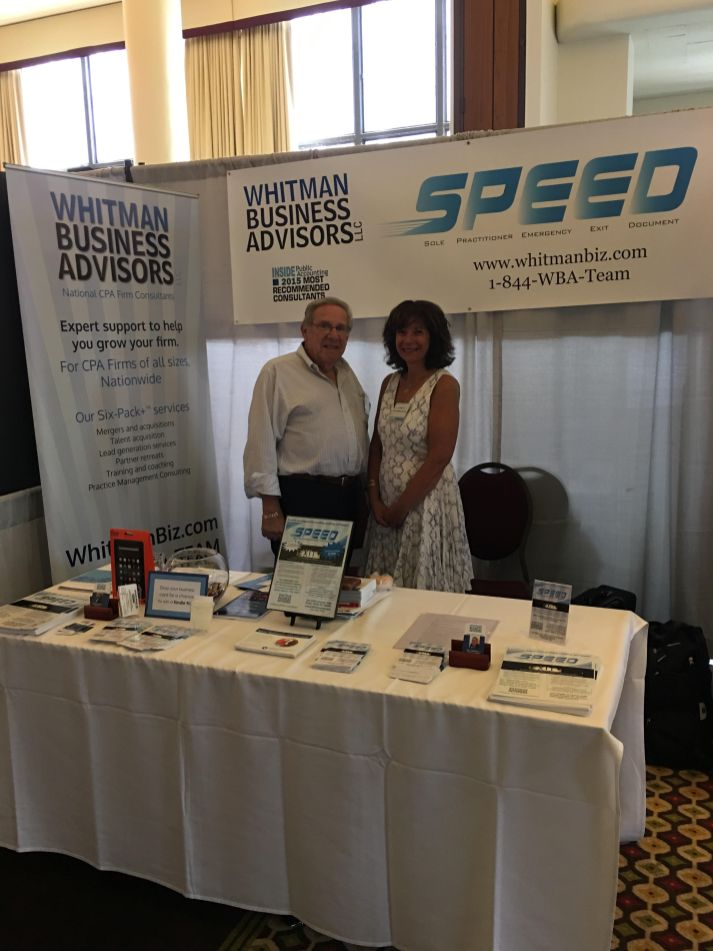 Barry Wagman & Phyllis Eisenberg at the 2016 New York Accounting Show