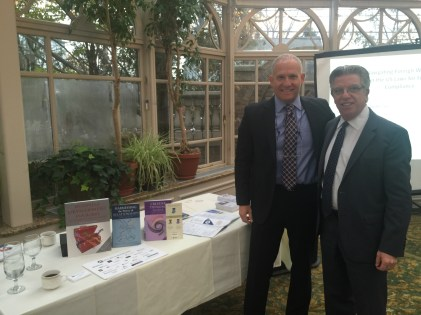 Phil Whitman and Andy bluestone noted author of business development tool kit. At njscpa Passaic began chapter event